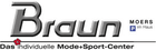 Mode+Sport-Center Braun Logo